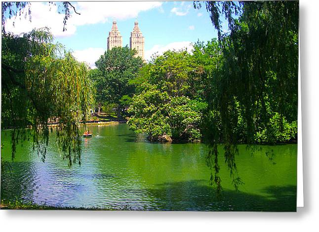 Lakeside In Manhattan, New York Greeting Card