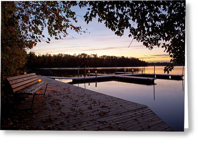 Lakeside In The North Woods Greeting Card by Adam Pender