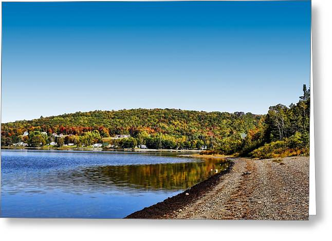 Lakeside Portage Greeting Card by Gary Smith