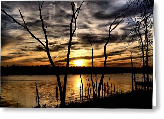 Lakeside View Greeting Card by Karen M Scovill