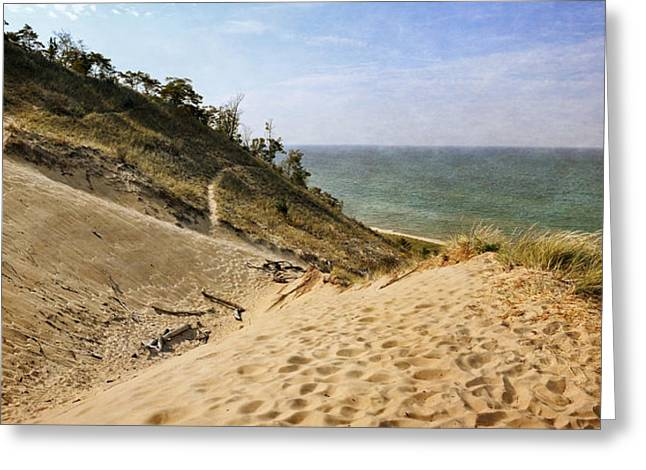 Greeting Card featuring the photograph Laketown Dune Panorama by Michelle Calkins