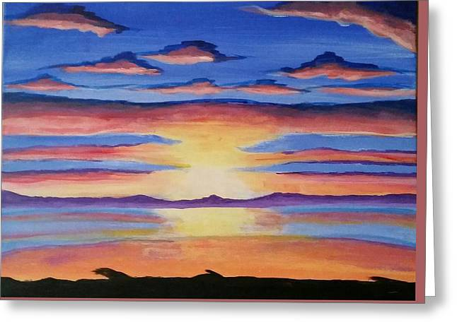 Lakeview Sunset Greeting Card