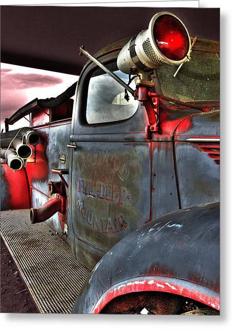 Lakewood Mountair Fire Dept.  Greeting Card by Kevin Munro