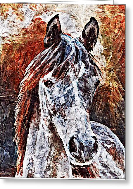 Greeting Card featuring the painting Lakota by Lita Kelley