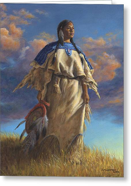 Lakota Woman Greeting Card