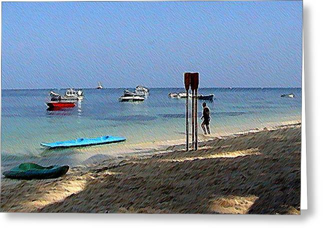 Lakshadweep Beach Greeting Card by Padamvir Singh