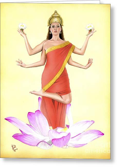 Lakshmi Greeting Card by Kevin Clark