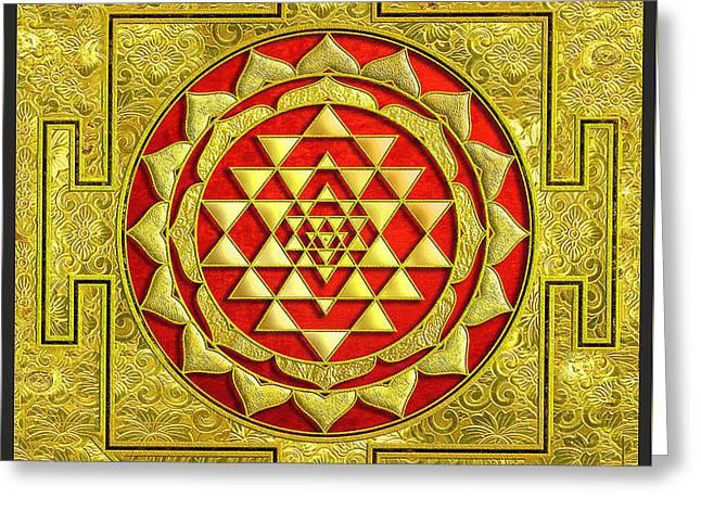 Lakshmi Kubera Yantra Greeting Card