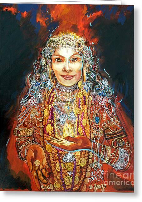 Lakshmi Greeting Card by Lara B Sorensen