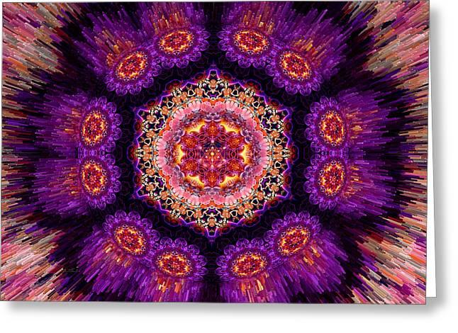 Lakshmi Sacred Mandala Greeting Card by Richard Copeland