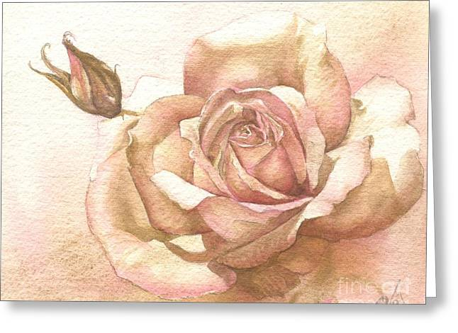 Lalique Rose Greeting Card by Sandra Phryce-Jones