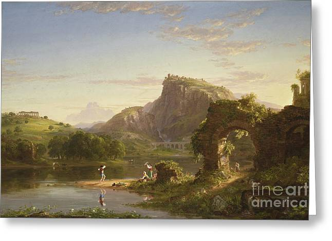 L'allegro, 1845 Greeting Card by Thomas Cole