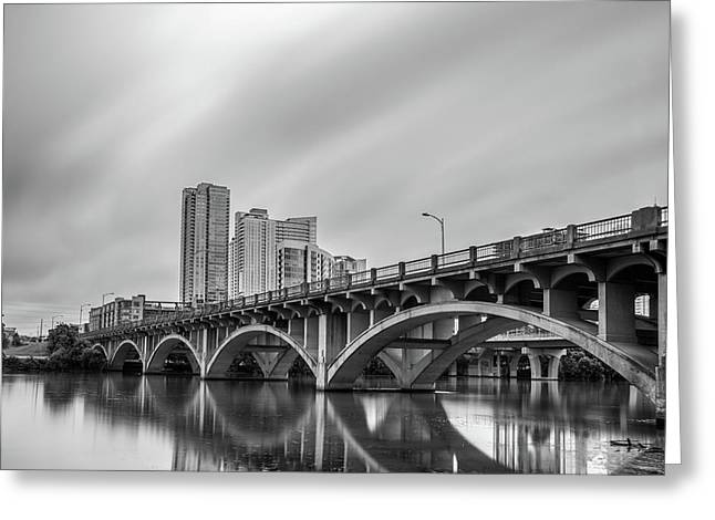 Lamar Bridge In Austin, Texas Greeting Card