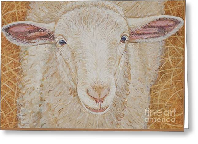 Lamb Of God Greeting Card by Christine Belt