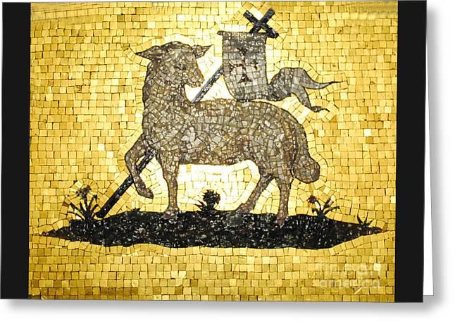 Lamb Of God Gold Greeting Card