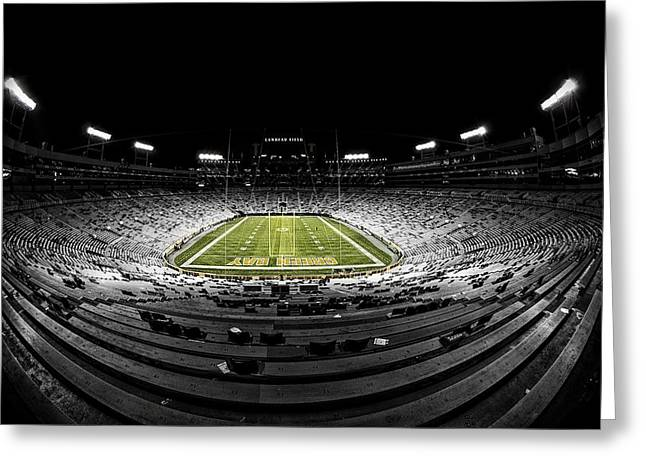 Lambeau Field At Night Greeting Card
