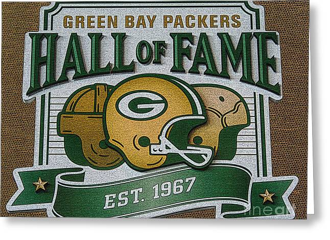 Lambeau Field - Hall Of Fame - Oil Greeting Card by Tommy Anderson