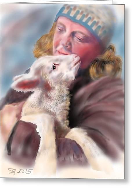 Lambie Love Greeting Card