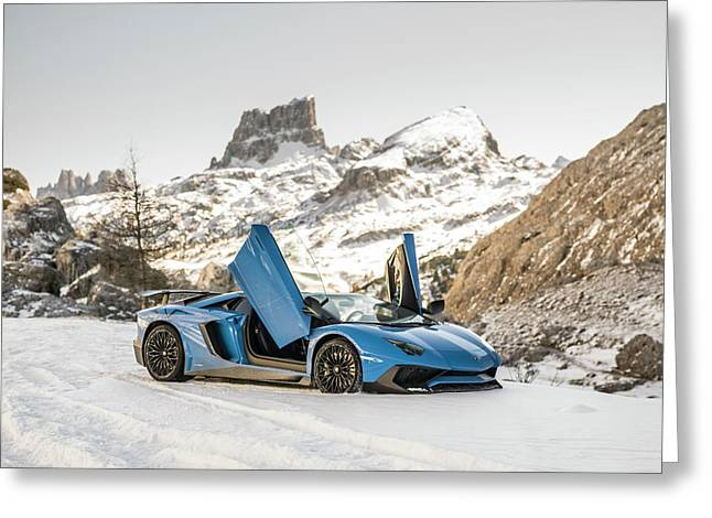 Lamborghini Aventador Sv Greeting Card