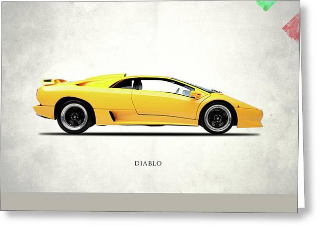Lamborghini Diablo 88 Greeting Card by Mark Rogan