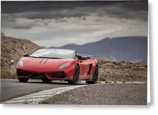 Lamborghini Gallardo Lp570-4 Spyder Performante Greeting Card