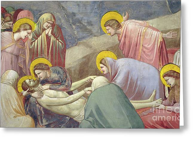 Lamentation Over The Dead Christ Greeting Card by Giotto di Bondone