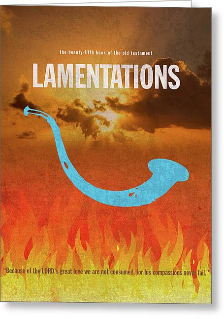 Lamentations Books Of The Bible Series Old Testament Minimal Poster Art Number 25 Greeting Card by Design Turnpike