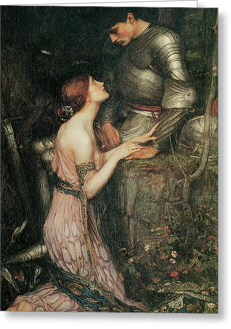 Lamia Greeting Card by John William Waterhouse