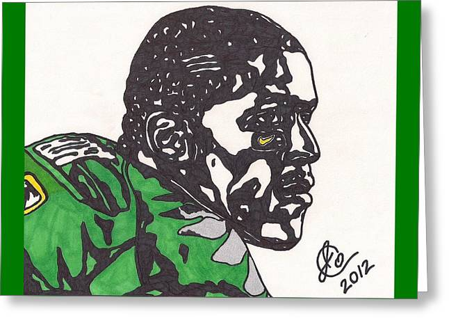 Greeting Card featuring the drawing Lamicheal James 2 by Jeremiah Colley