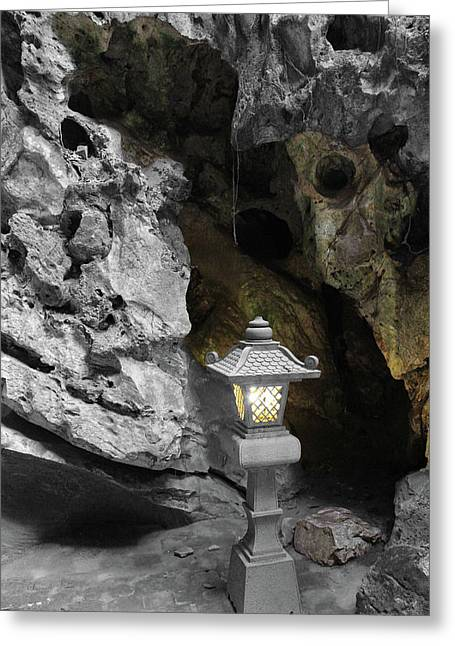 Lamp In Marble Mountain Greeting Card