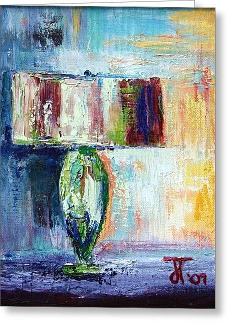 Lamp Greeting Card by Jill Tennison