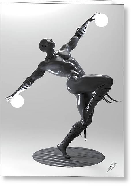 Lamp Man 04 Greeting Card
