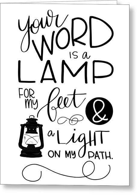 Lamp Greeting Card by Nancy Ingersoll