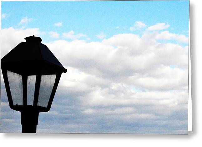 Greeting Card featuring the photograph Lamp Post by W And F Kreations
