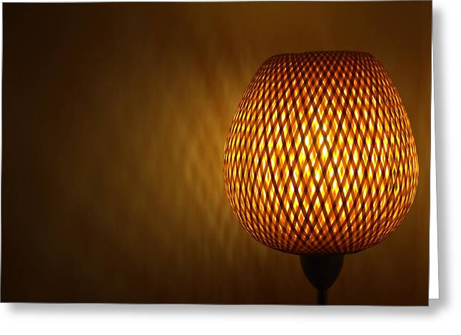 Lamp Greeting Card by RKAB Works