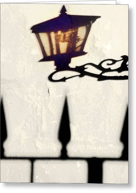 Lamp Shadow.. Greeting Card by Al  Swasey