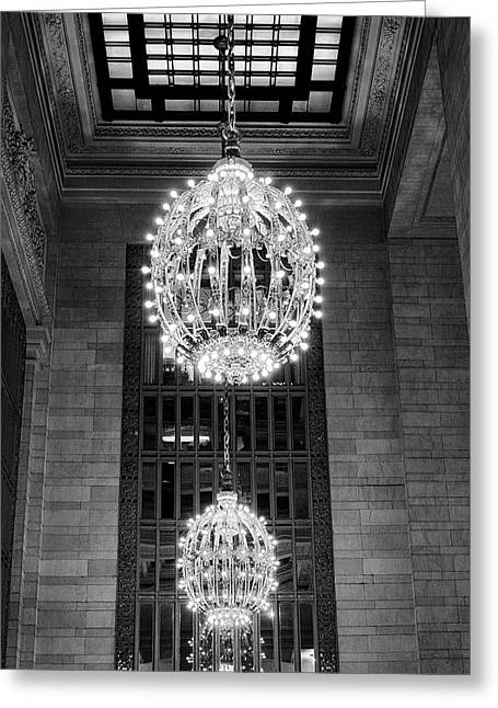 Greeting Card featuring the photograph Lamps In Grand Central Station by Lora Lee Chapman