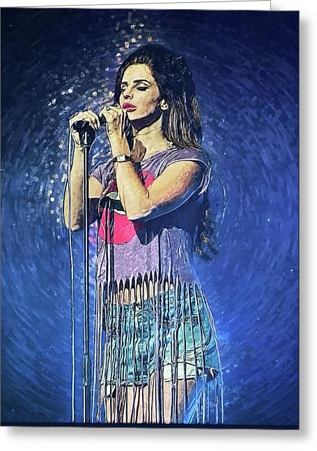 Lana Del Rey Greeting Card