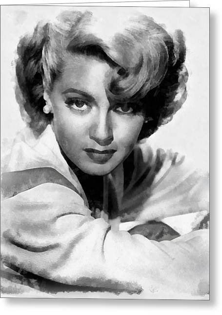 Lana Turner By John Springfield Greeting Card