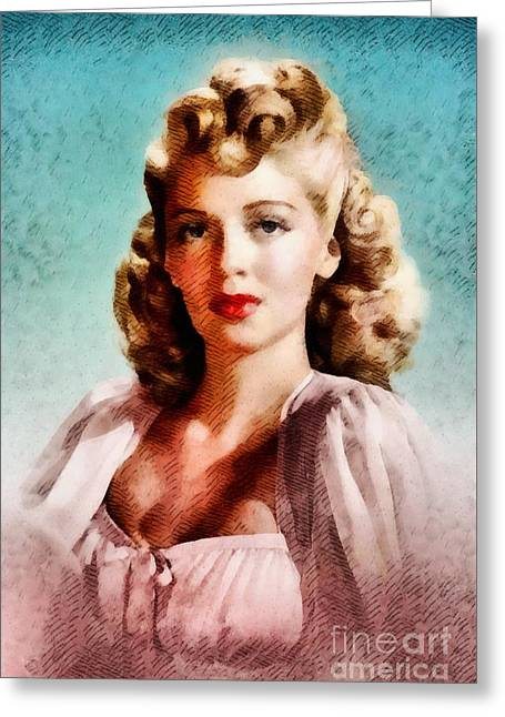 Lana Turner, Vintage Actress Greeting Card