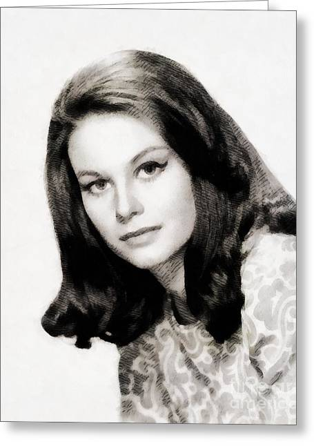 Lana Wood, Vintage Actress Greeting Card