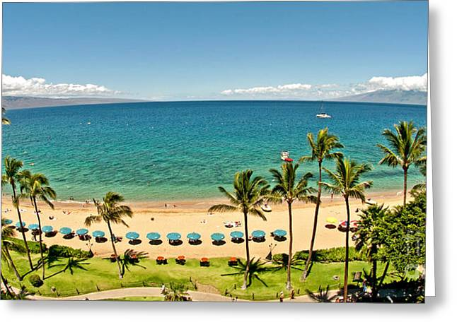 Best Sellers -  - Party Invite Greeting Cards - Lanai and Molokai Greeting Card by Jim Chamberlain