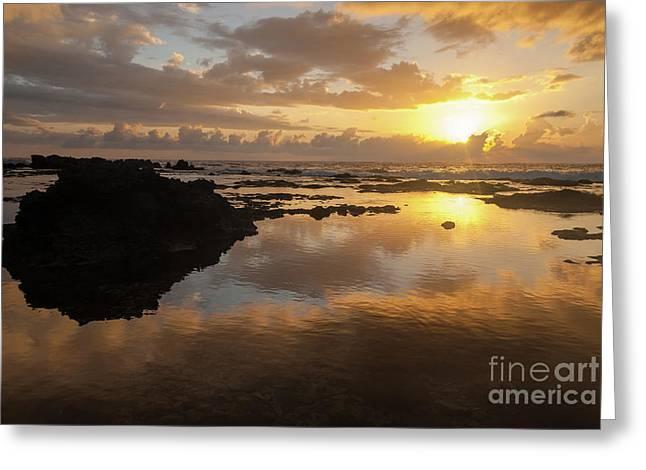 Lanai Sunset #1 Greeting Card