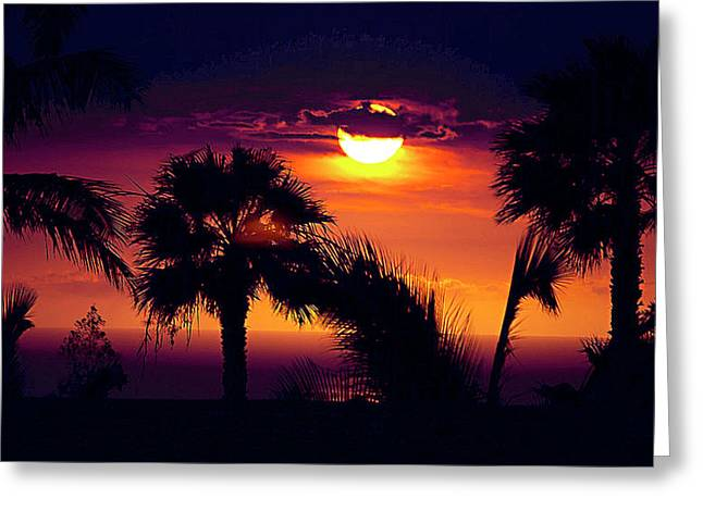 Lanai Sunset Greeting Card