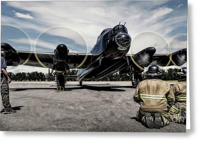 Lancaster Engine Test Greeting Card