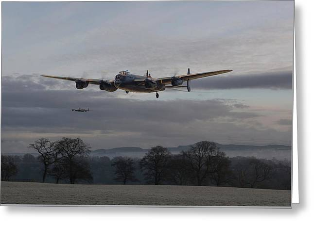 Lancaster - He Aint Heavy He's My Brother' Greeting Card by Pat Speirs