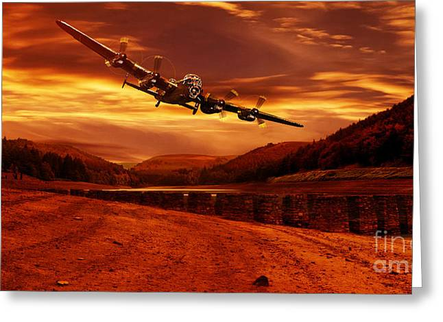 Lancaster Over Ouzelden Greeting Card