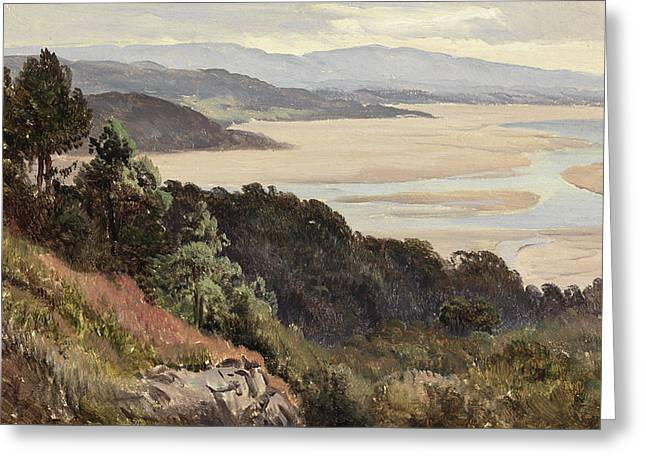 Lancaster Sands Greeting Card by Sidney Richard Percy