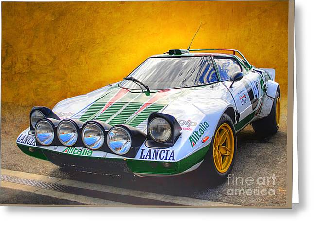 Lancia Stratos Greeting Card