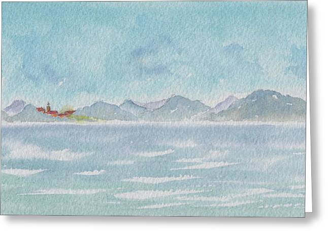 Greeting Card featuring the painting Land Ahoy Cruising By Cuba by Pat Katz